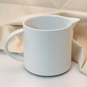 Cordalite White Ribbed Coffee Creamer Pitcher